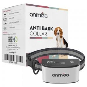 Collare antiabbaio per cani - Tecnologia per l'addestramento dei cani non a stimolazione elettrica - Resistente alle intemperie - Vibra & Suona - Animigo