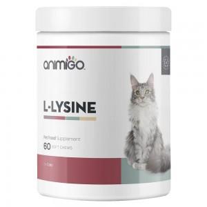 L-Lisina per Gatti - Supporto al Sistema Immunitario per Gattini e Gatti - 60 Bocconcini - Animigo