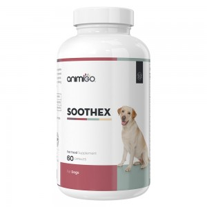 Soothex for Dogs - Natural Calming Supplement for Stressed & Anxious Dogs - 60 Capsules - Animigo